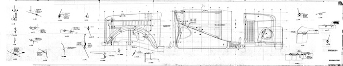 чертеж оперения ГАЗ-69