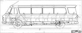 Габаритный чертеж ЗИЛ-118 Юность