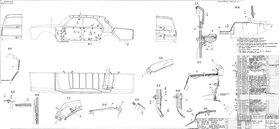 Чертеж обивки кузова ГАЗ-24