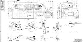 чертеж кузова санитарного ЗИС-110