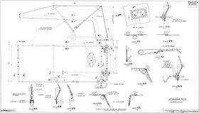 Drawing of the GAZ-67B awning