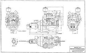 чертеж двигателя М-1