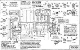 Чертеж блока цилинлров ГАЗ-А