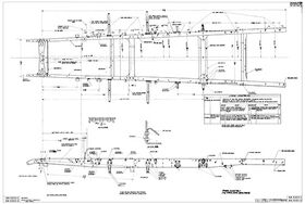 Ford model AA frame drawing