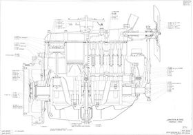 Чертеж двигателя ГАЗ-ММ