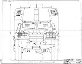 чертеж БТР-152С
