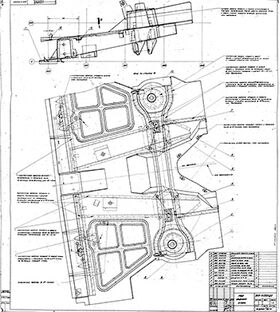 Пол задний ЗАЗ-965 чертеж